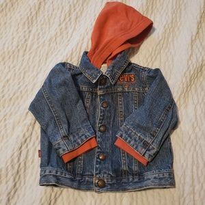 Baby Levi's denim jacket 18 months hoodie